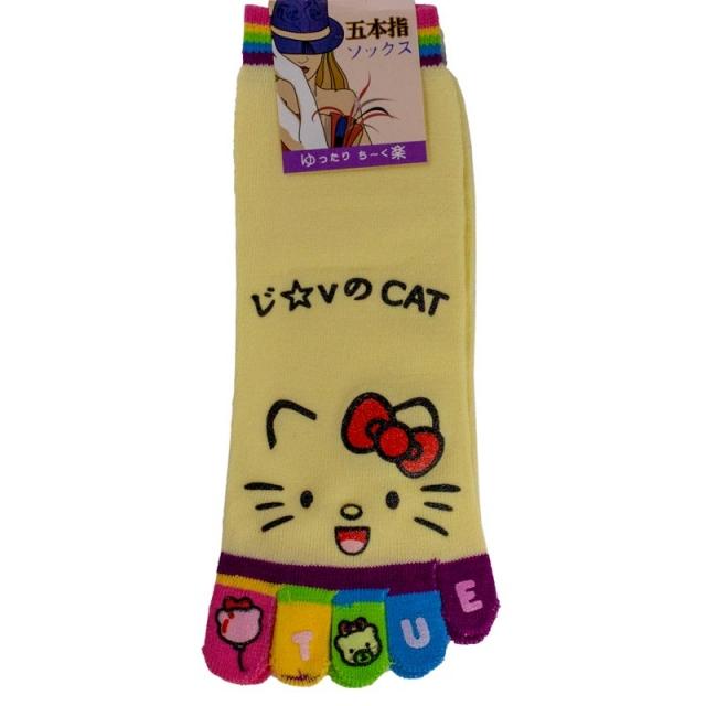 جوراب انگشتی طرح کیتی کد11902