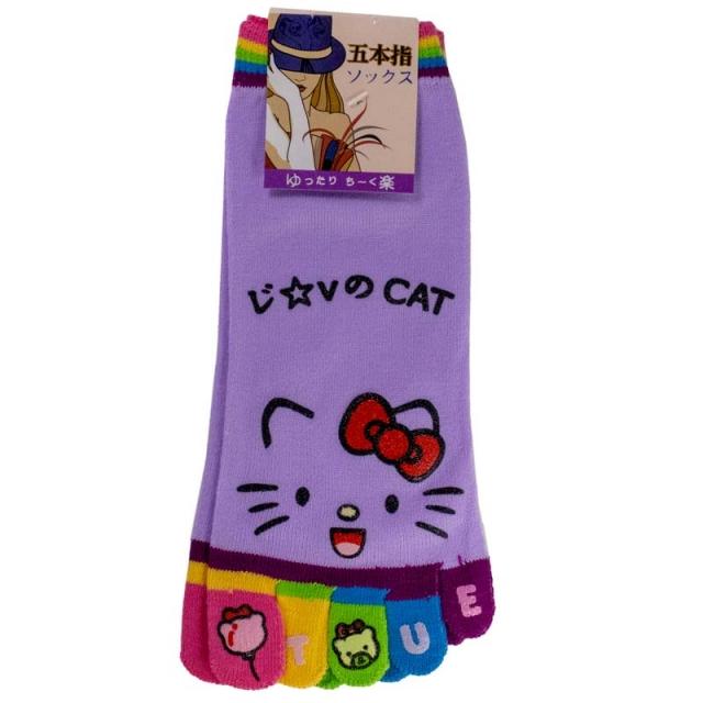جوراب انگشتی طرح کیتی کد11904