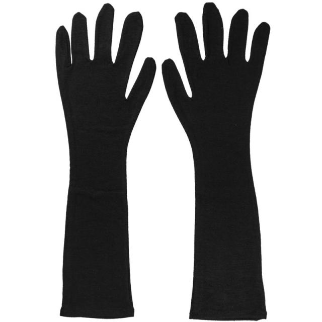 دستکش نخ استرج بلند مشکی کد 21218
