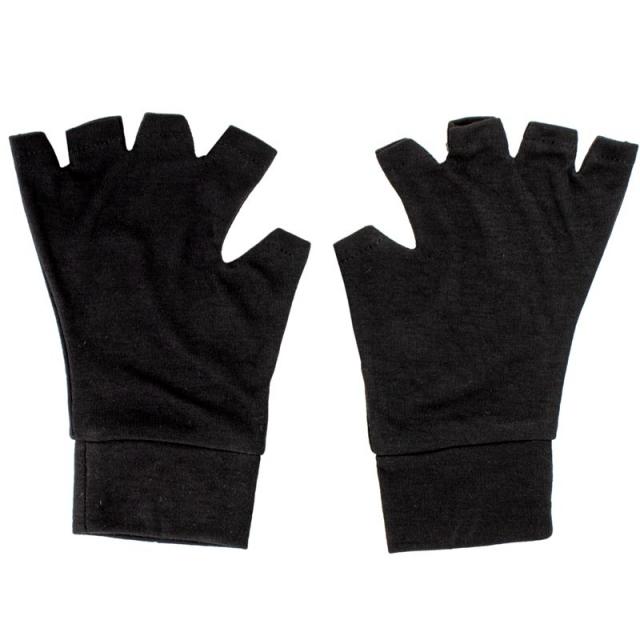 دستکش بدون انگشت نخی مشکی کد 21216