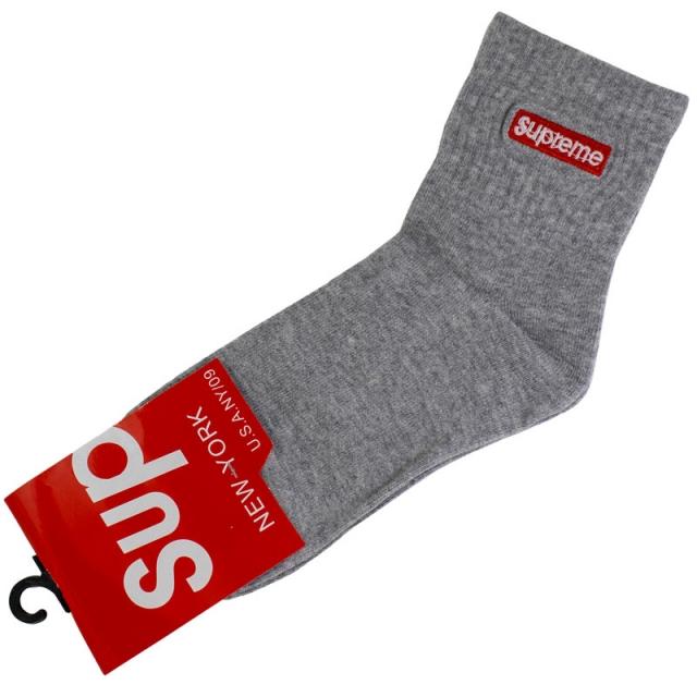 جوراب مردانه نیم ساق طوسی supreme