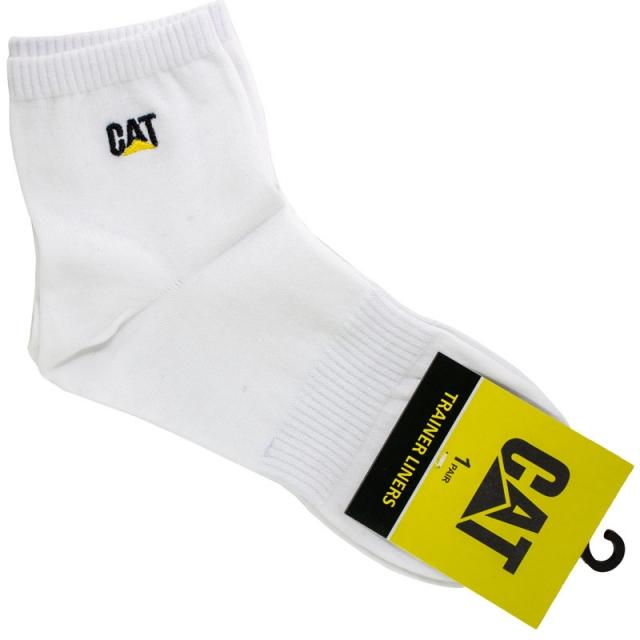 جوراب مردانه نیم ساق سفید CAT