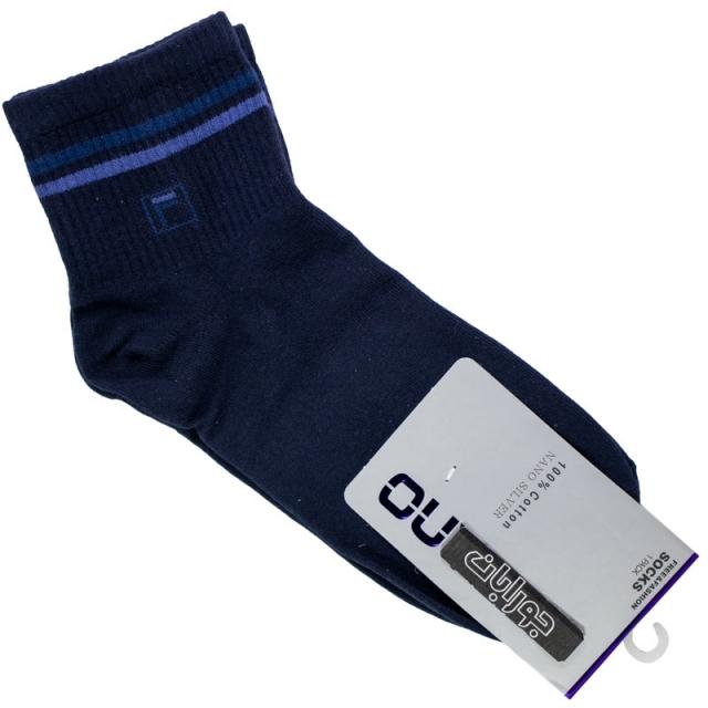 جوراب مردانه نیم ساق سرمه ای طرح فیلا