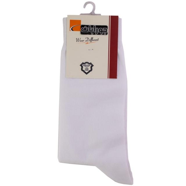 جوراب مردانه سفید نخ پنبه