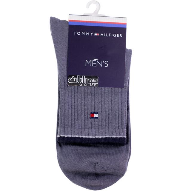 جوراب مردانه نیم ساق طوسی TOMMY