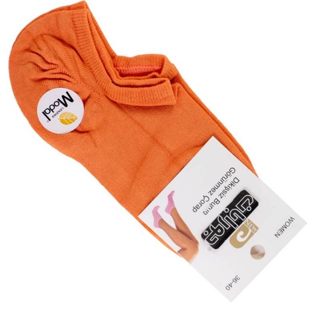 جوراب زیرقوزک زنانه مودال نارنجی
