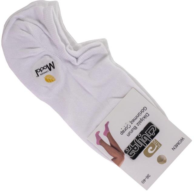 جوراب زیرقوزک زنانه مودال سفید