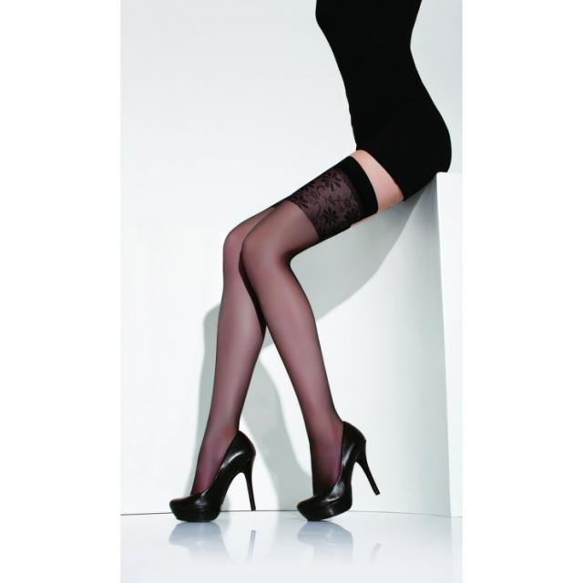 جوراب بلند بالای زانو شیشه ای بالاطرحدار