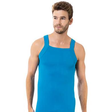 زیرپوش مردانه اوزتاش مدل خشتی آبی