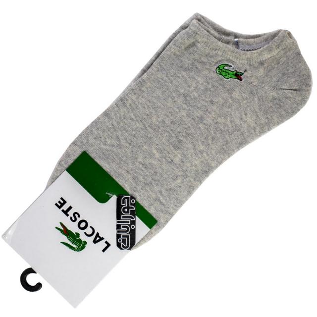 جوراب زیرقوزک مردانه طوسی لاکست