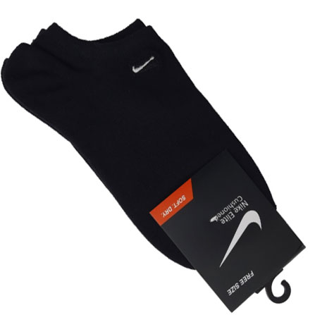 جوراب زیرقوزک طرح نایک مشکی