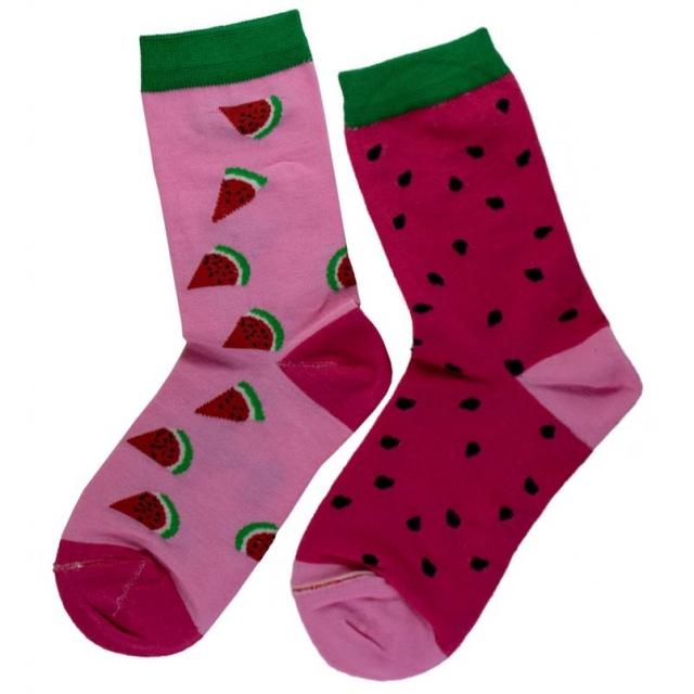 جوراب ساقدار تا به تا طرح هندوانه