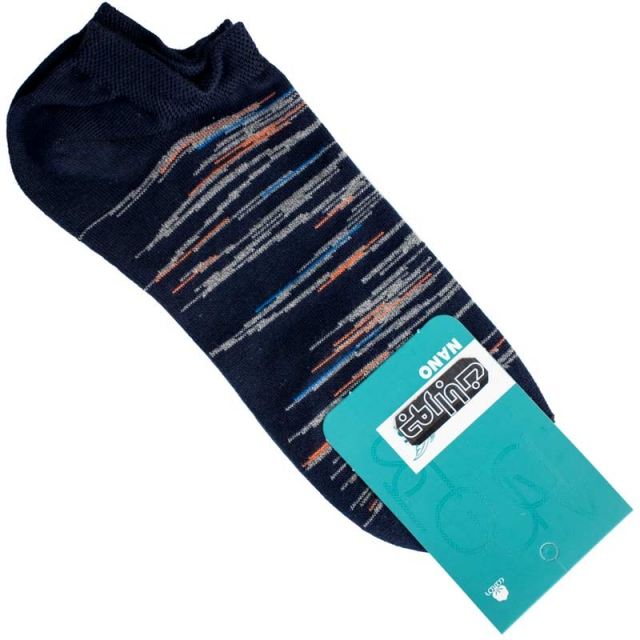 جوراب مچی مردانه سرمه ای طرحدار