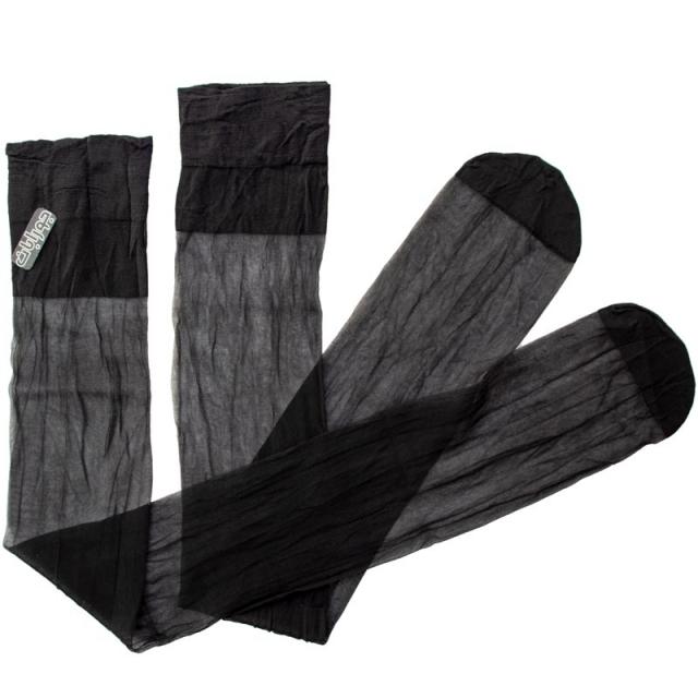 جوراب زنانه مشکی بالای زانو شیشه ای
