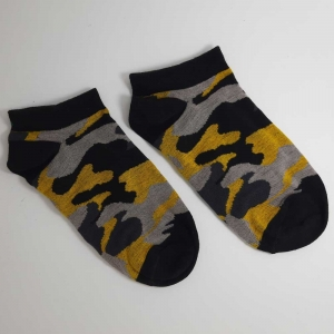 جوراب مچی چریکی زرد طوسی