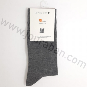 جوراب مردانه ساقدار زغالی طرح تامی