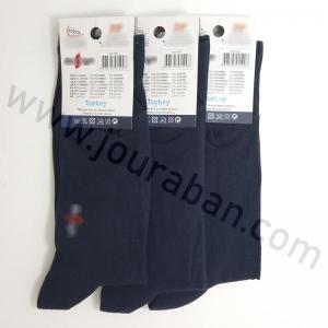 جوراب مردانه ساقدار سرمه ای بسته 3عددی