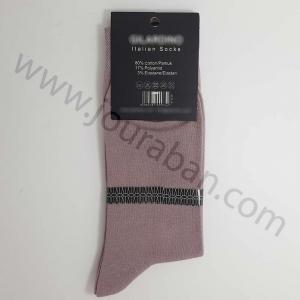 جوراب مردانه ساقدار رنگ یاسی روشن