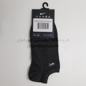جوراب زیرقوزک طرح نایک زغالی