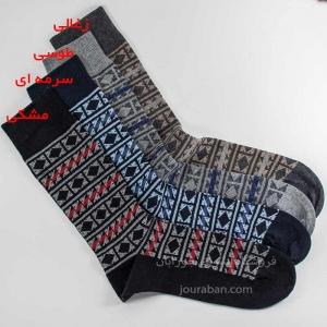 جوراب مردانه کتان طرحدار ترک