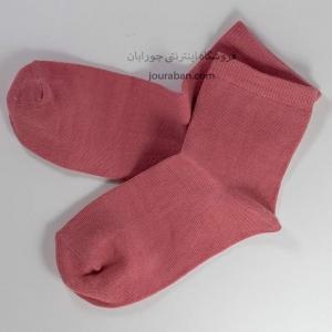 جوراب نیم ساق گلبهی یک