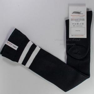 جوراب بالای زانو مشکی 2خط