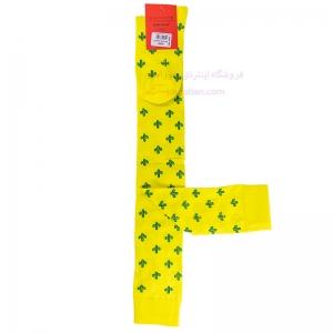 جوراب بالای زانو زرد طرح کاکتوس
