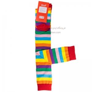 جوراب بالای زانو رنگی رنگی