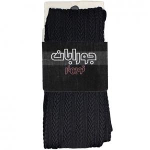 جوراب شلواری زنانه طرح گندم مشکی