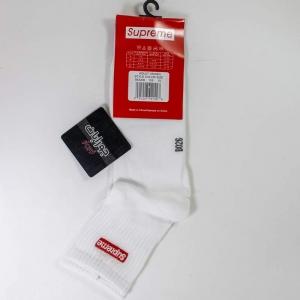 جوراب مردانه نیم ساق سفید supreme