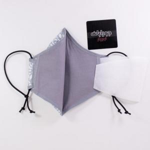 ماسک تنفسی 3لایه نخی طوسی طرحدار