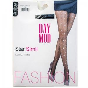 جوراب شلواری شیشه ای ستاره دار