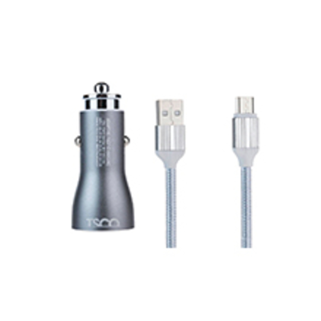 شارژر فندکی تسکو مدل TCG 13 به همراه کابل تبدیل USB به microUSB