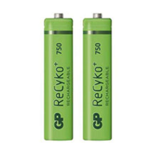 باتری نیم قلمی قابل شارژ جی پی مدل ReCyko Plus 750 بسته دو عددی