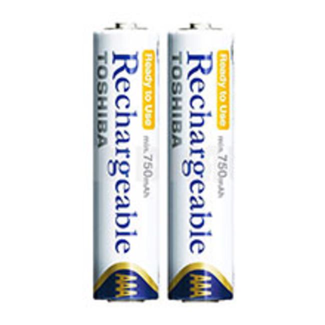 باتری نیم قلمی قابل شارژ توشیبا مدل Ni-MH بسته 2 عددی