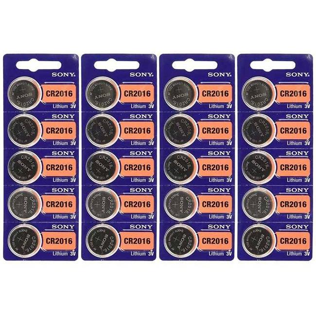 باتری سکه ای سونی مدل CR2016 بسته ۲۰ عددی