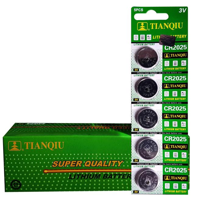 باتری سکه ای تیانکیو مدل CR2032 بسته 100 عددی