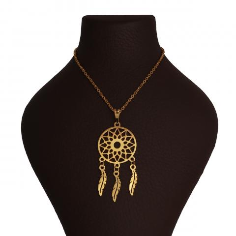 گردنبند طلا 18 عیار زنانه گالری مانترا طرح برگ کد 1118D9042