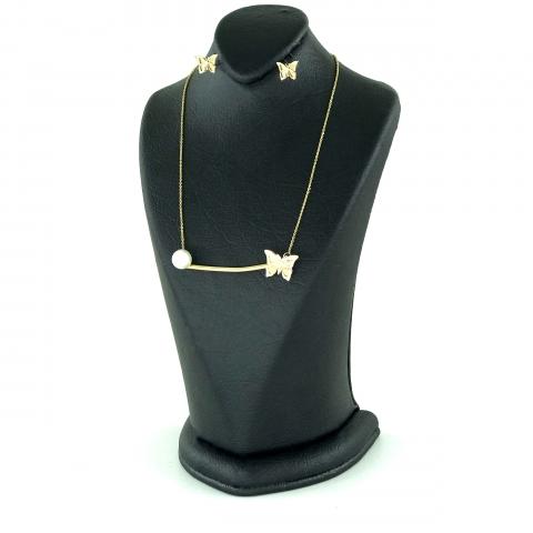 نیم ست طلا 18 عیار زنانه گالری مانترا مدل GMN-2442