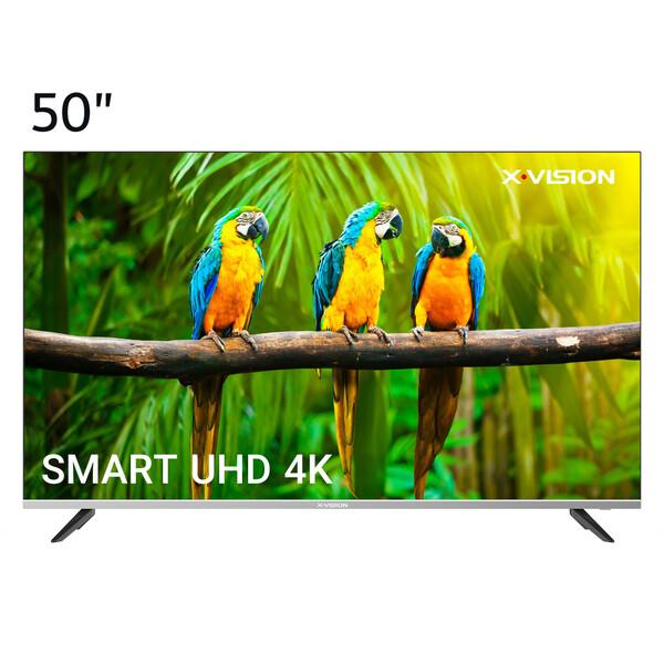 تلویزیون ال ای دی هوشمند ایکس ویژن مدل 50XCU585 سایز 50 اینچ