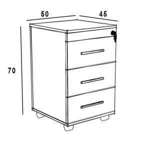 فایل کشویی سازینه چوب سری دایان مدل S-K102