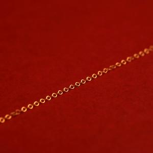 گردنبند طلا 18 عیار زنانه آمانژ طرح برگ کد 1118D9042