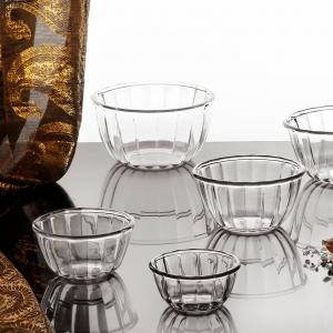 ظرف نگهدارنده شیشه و بلور اصفهان مدل رزیتا مجموعه 3 عددی