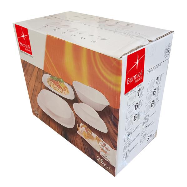 سرویس غذا خوری 26 پارچه بورمیولی تولیدو مدل WH0026