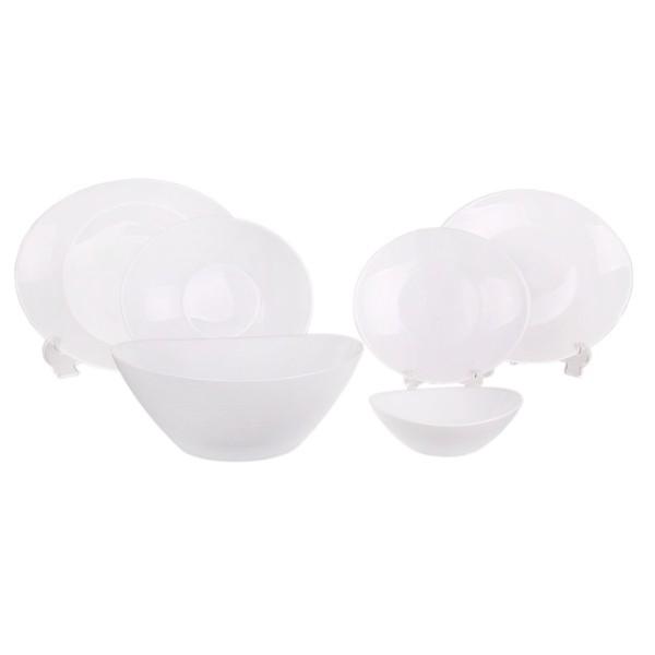 سرویس 26 پارچه غذاخوری بورمیولی مدل Simple White Prometeo