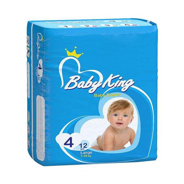 پوشک بیبی کینگ سایز 4 مجموعه 3 عددی