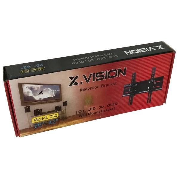 پایه دیواری تلویزیون ایکسویژن مدل Z33 مناسب برای تلویزیون های 26 تا 42 اینچ
