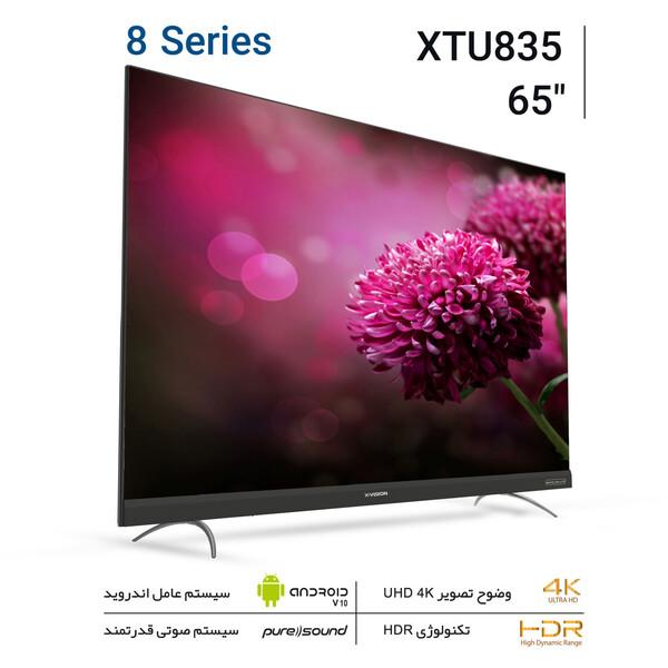 تلویزیون ال ای دی هوشمند ایکس ویژن مدل 65XTU835 سایز 65 اینچ