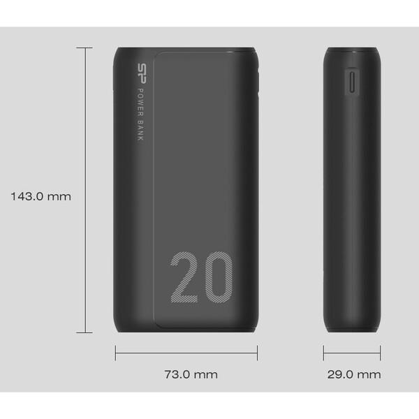 شارژر همراه سیلیکون پاور مدل GS15 ظرفیت 20000 میلی آمپر ساعت