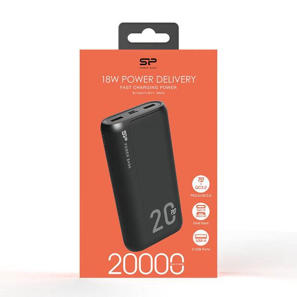 شارژر همراه سیلیکون پاور مدل QS15 ظرفیت 20000 میلی آمپر ساعت
